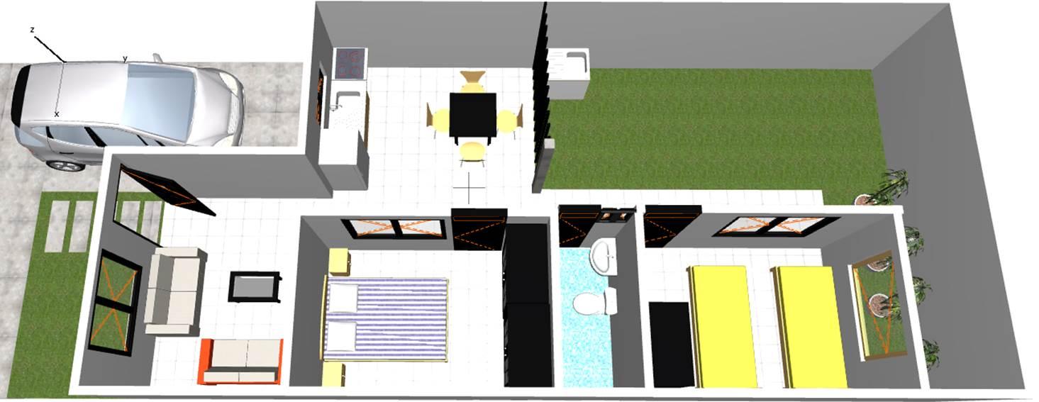 Diseno para una casa de 90 metros cuadrados for Diseno de apartamentos de 90 metros cuadrados