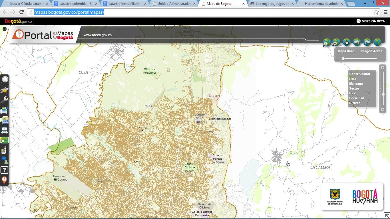 Buscar En El Mapa De Catastro Bogota Valores De Referencia Por M2