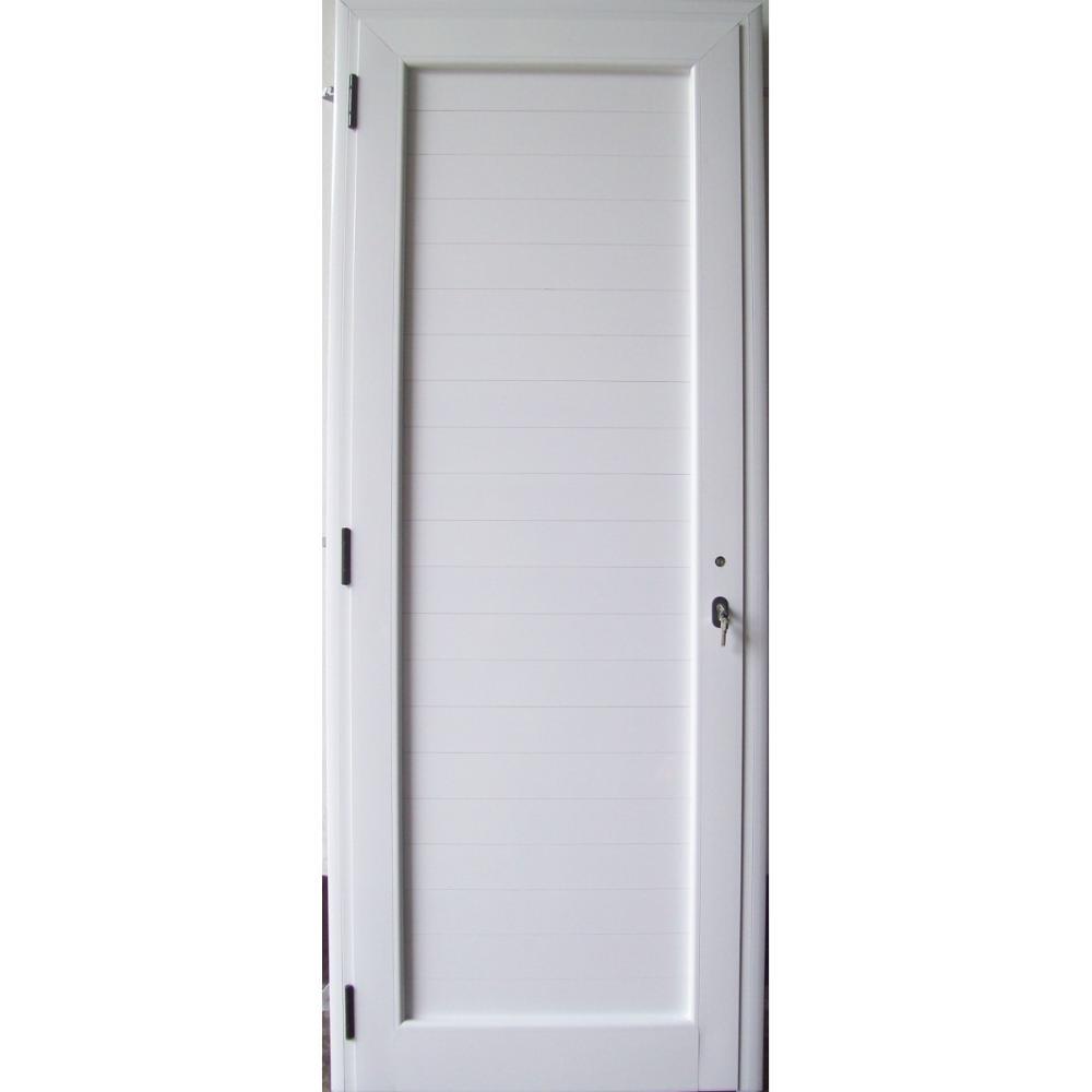 Puerta En Aluminio Llena Con Marco E Instalacion X M2 - Puertas-de-aluminio-fotos