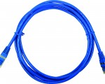 Patch Cord UTP Categoria 6 con terminales estandar, cobre 24AWG, 50 U, 3 pies, color azul1